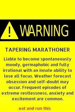 taper warning