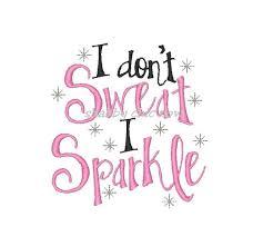 sweat sparkle